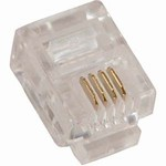 Modular Connectors, 6 Position/4 Contact RJ11 (6P4C), 100 Pieces, Item# 14-6P4C-100