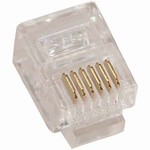 Modular Connectors, 6 Position/6 Contact RJ12 (6P6C), 100 Pieces, Item# 14-6P6C-100