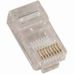 Modular Connectors, 8 Position RJ45 (8P8C), 50 Pieces, Item# 14-8P8C-050