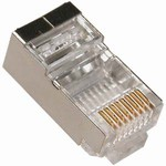 Shielded Modular Connectors, 8 Position RJ45 (8P8C), 50 Pieces, Item# 14-8P8C-SH-050