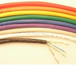 CAT 6e Cable, 600mHz, 4 Pair, 24 AWG Stranded, Unshielded, Violet PVC, 500 Ft. Item# 90-2207-0500