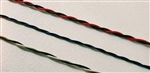Type TXL Automotive 18 AWG (16/30) Twisted Pair, each with Striped Wire. 500' Spool. TXL-18-7/9-5/0-TP1-0500