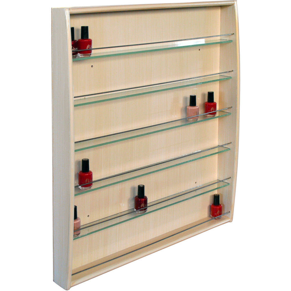 Living room celex furniture - Jia Wall Mounted Wood Nail Polish Rack Choice Of Colors Wall Polish Rack