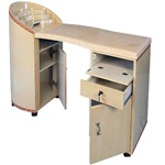 Hua Manicure Table - Marble & Wood (OM)