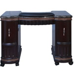 Zian Manicure Table - Marble Top with Wood Base (WM)