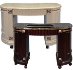 Quon Manicure Table Regular - Marble Top with Wood Base (ZM)