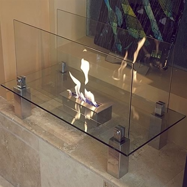 Freestanding Fiero Ethanol Fireplace by Nu-Flame (NF-F3FIO)
