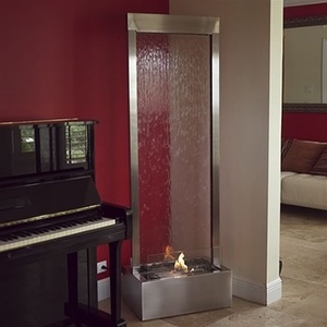 6' Stainless Gardenfall Fire Fountain by Nu-Flame (GF6SG-FIRE)
