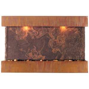 "Lightweight NSI Slate Fountains Horizon Falls - Medium Fountain 24.5"" x 37.5"" by BluWorld of Water (WWMHS)"