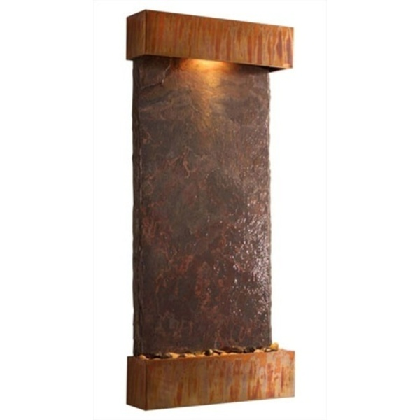 "Lightweight NSI Slate Nojoqui Falls Large Fountain 57.5"" x 25.5"" by BluWorld of Water (WWLVS)"