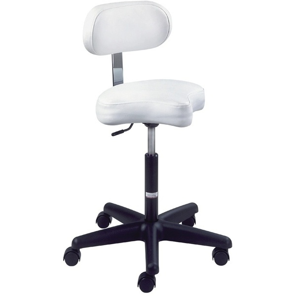 Ergonomic Air-Lift Stool with Backrest by Equipro (31300)