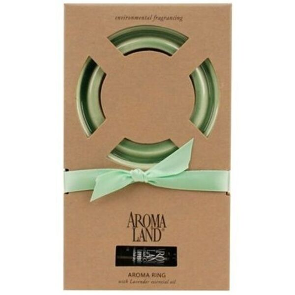 Aroma Ring Green 6 Pack - Aromatherapy Gifts Wedding Favors Retail (10ARG-6)