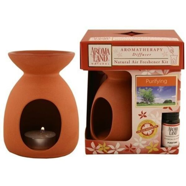 Aromatherapy Diffuser - Simplicity Natural with Purifying Blend 4 Pack - Gifts Wedding Favors Retail (10FSIMN-4)