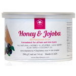 Fleur De Spa Honey & Jojoba - All Purpose Soft Strip Wax - 14 oz. Can Box of 8 Cans (F3004 X 8)