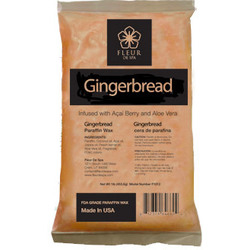 Fleur De Spa True Gingerbread Paraffin Wax 1 Lb. Bars x 24 Bars = 24 Lbs. (F1015 X 4)