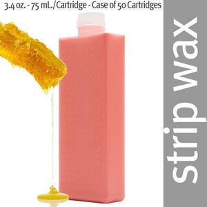 Dermwax Pink - Rose Roll-On Cartridge Wax Strip Wax 3.4 oz. - 75 mL. per Cartridge - Case of 50 Cartridges (5164 X 50)