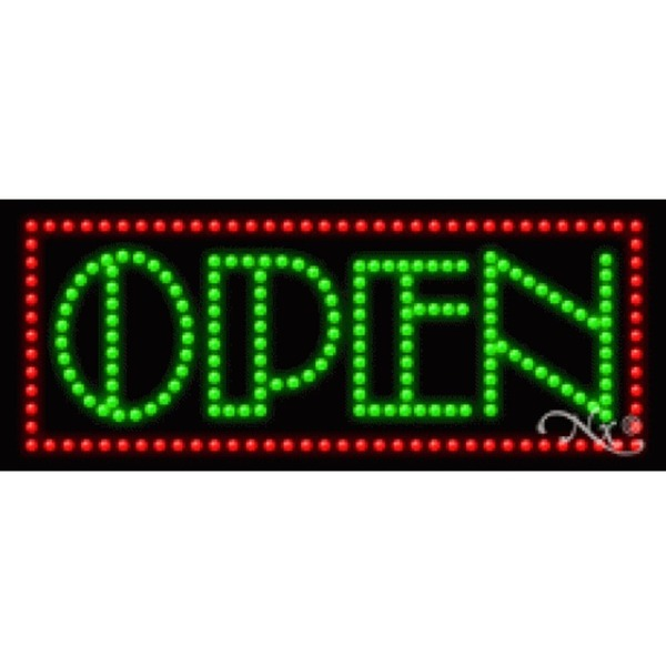 "LED Sign - Open 11""H x 27""W x 1""D (20268)"