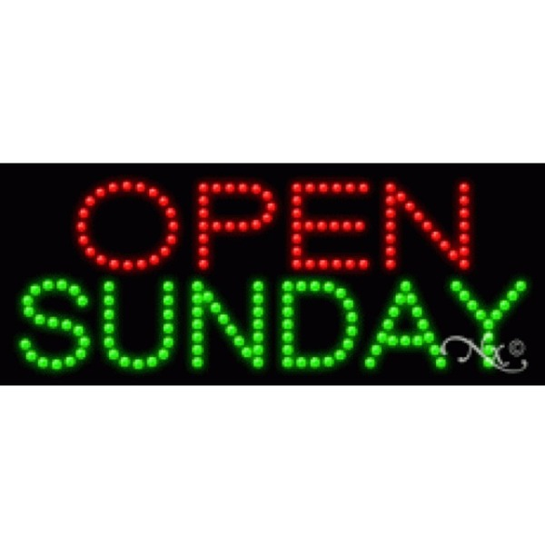 "LED Sign - Open Sunday 11""H x 27""W x 1""D (20271)"