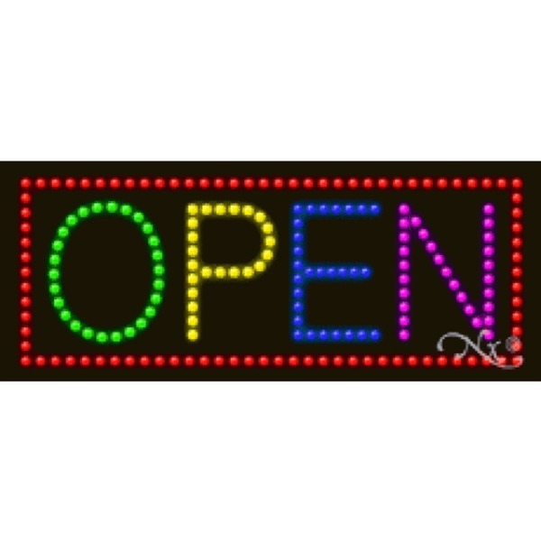 "LED Sign - Open 11""H x 27""W x 1""D (20480)"