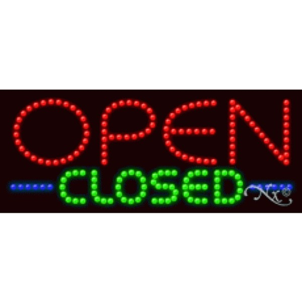 "LED Sign - Open Closed 11""H x 27""W x 1""D (20858)"