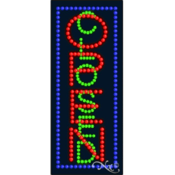 "LED Sign - Open Closed 27""H x 11""W x 1""D (21012)"