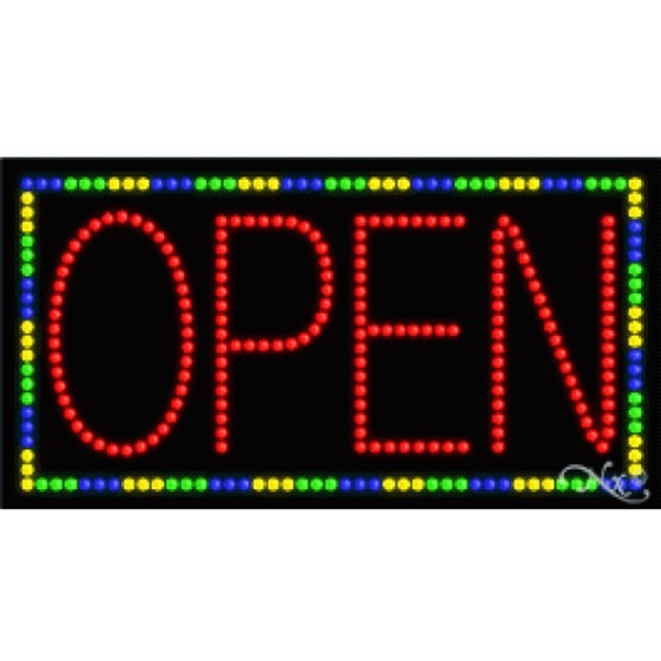 "LED Sign - Open 17""H x 32""W x 1""D (21101)"
