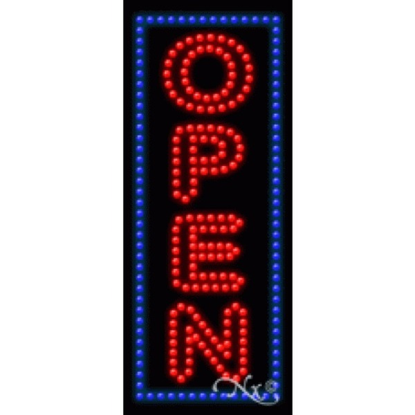 "LED Sign - Open 27""H x 11""W x 1""D (21603)"