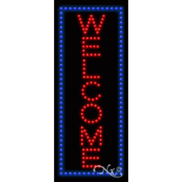 "LED Sign - Welcome 27""H x 11""W x 1""D (21645)"