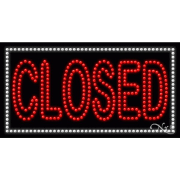 "LED Sign - Closed 17""H x 32""W x 1""D (21677)"
