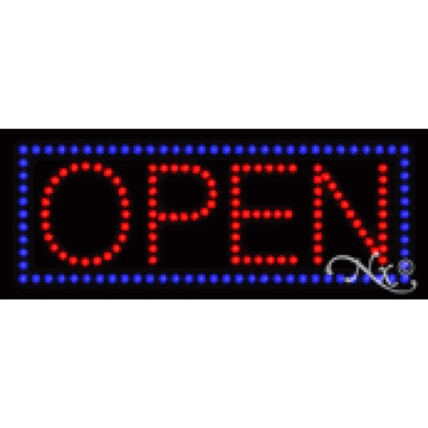 "LED Sign - Open 8""H x 20""W x 1""D (22113)"