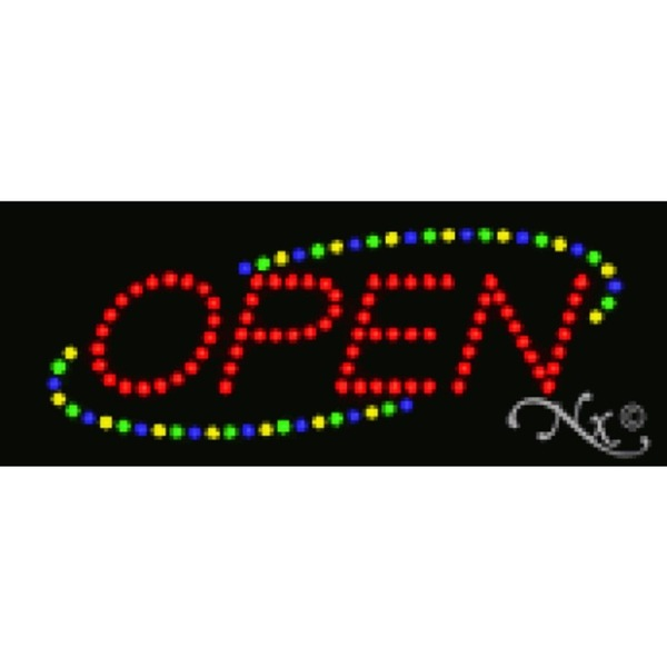 "LED Sign - Open 8""H x 20""W x 1""D (22114)"