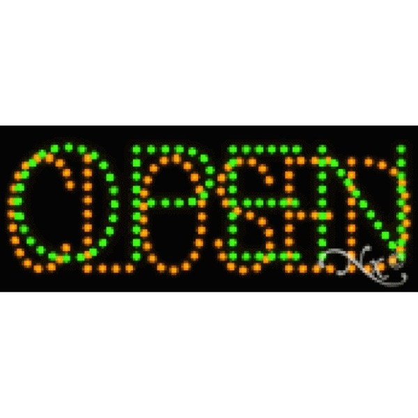 "LED Sign - Open Closed 8""H x 20""W x 1""D (22118)"