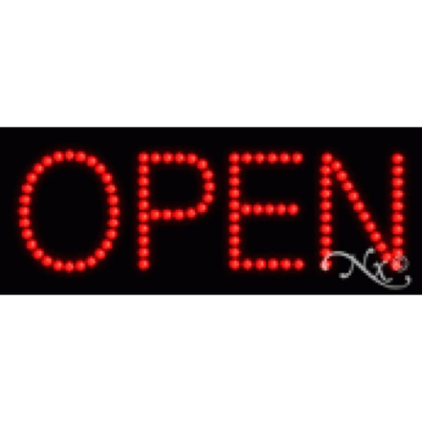 "LED Sign - Open 8""H x 20""W x 1""D (22325)"