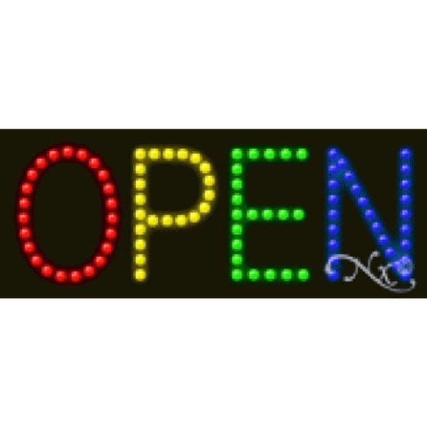 "LED Sign - Open 8""H x 20""W x 1""D (22388)"