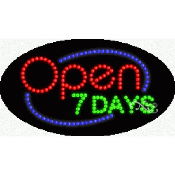 "LED Sign - Open 7 Days 15""H x 27""W x 1""D (24058)"