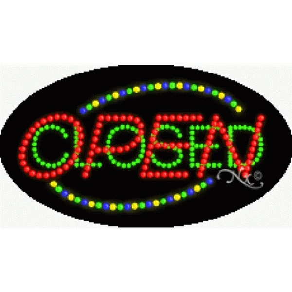 "LED Sign - Open Closed 15""H x 27""W x 1""D (24059)"