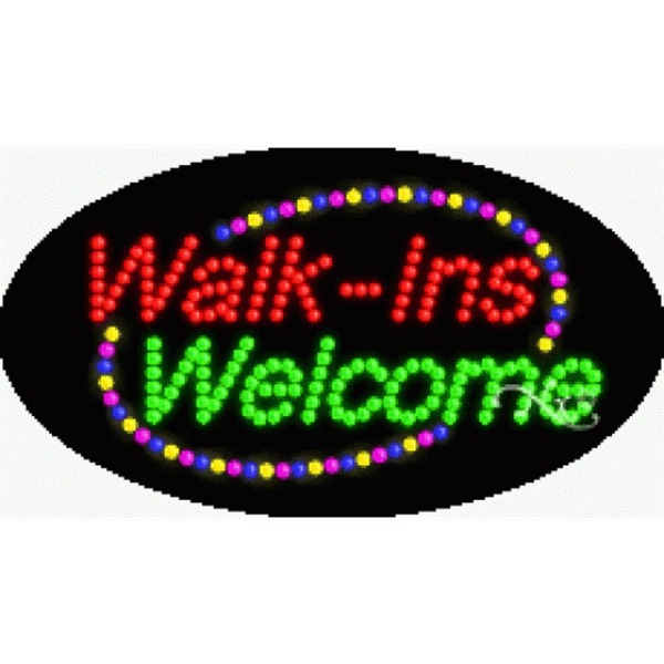 "LED Sign - Walk Ins Welcome 15""H x 27""W x 1""D (24085)"