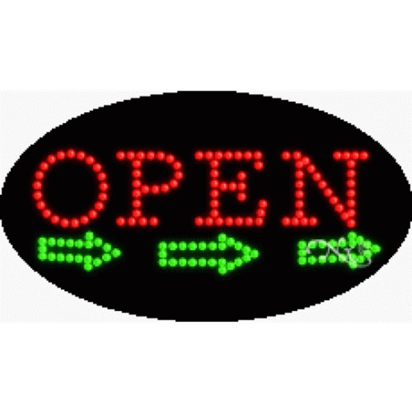"LED Sign - Open 15""H x 27""W x 1""D (24463)"