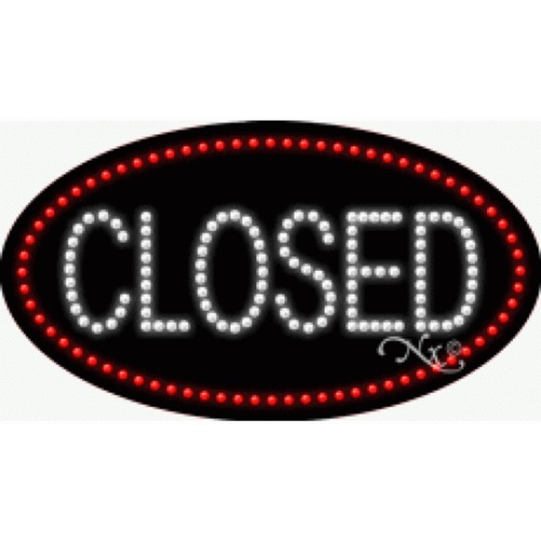 "LED Sign - Closed 15""H x 27""W x 1""D (24618)"