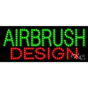 "LED Sign - Airbrush Design 11""H x 27""W x 1""D (20006)"