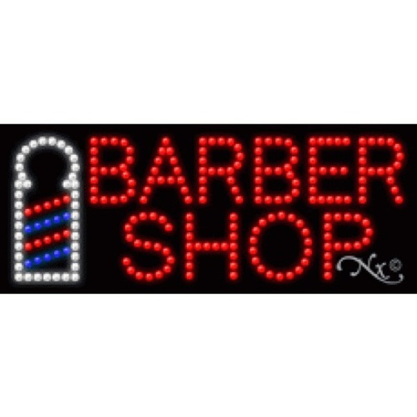"LED Sign - Barber Shop 11""H x 27""W x 1""D (20018)"