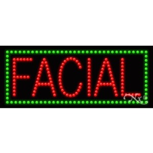 "LED Sign - Facial 11""H x 27""W x 1""D (20056)"
