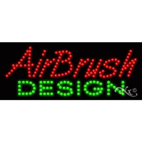 "LED Sign - Airbrush Design 11""H x 27""W x 1""D (20164)"