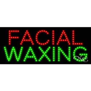 "LED Sign - Facial Waxing 11""H x 27""W x 1""D (20165)"