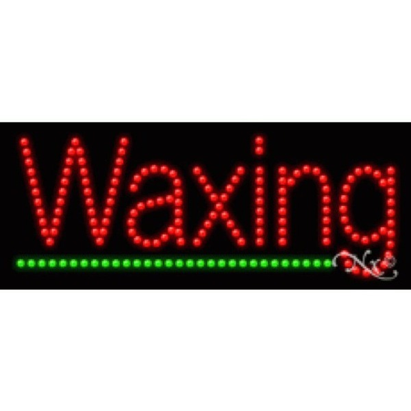 "LED Sign - Waxing 11""H x 27""W x 1""D (20173)"