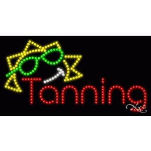 "LED Sign - Tanning 17""H x 32""W x 1""D (20326)"