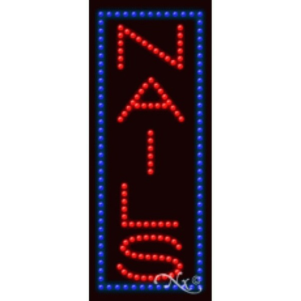 "LED Sign - Nails 27""H x 11""W x 1""D (20334)"