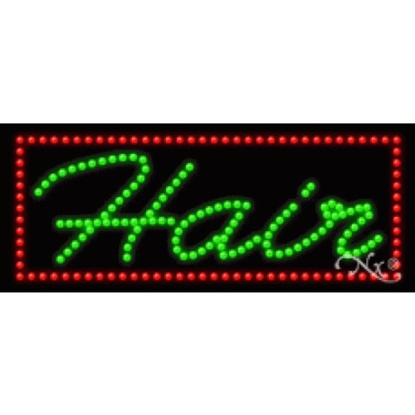"LED Sign - Hair 11""H x 27""W x 1""D (20351)"