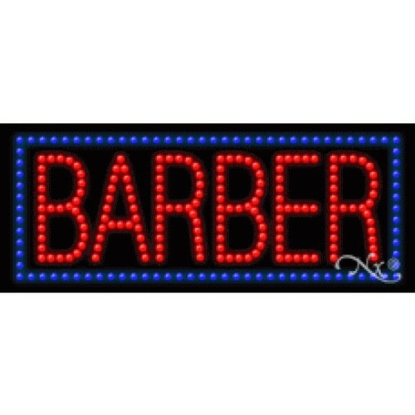 "LED Sign - Barber 11""H x 27""W x 1""D (20380)"