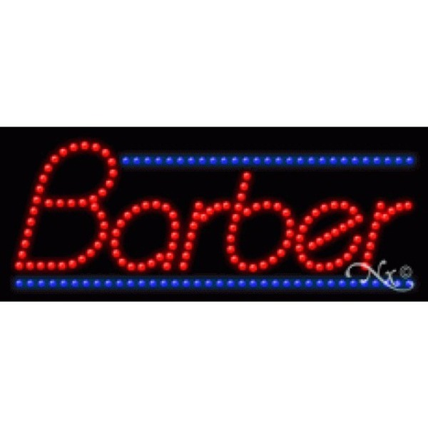 "LED Sign - Barber 11""H x 27""W x 1""D (20382)"